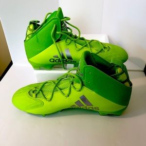 Adidas Neon green cleats Size 13 1/2